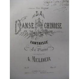 MELDER A. La Danse Chinoise Piano XIXe