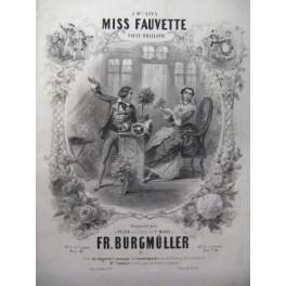 BURGMÜLLER F. Miss Fauvette Piano ca1850