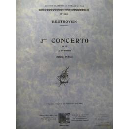 BEETHOVEN Ludwig van Concerto n° 3 op 37 Piano 4 mains 1949