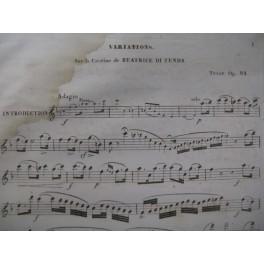 TULOU Jean-Louis Béatrice Di Tenda Flute 1841