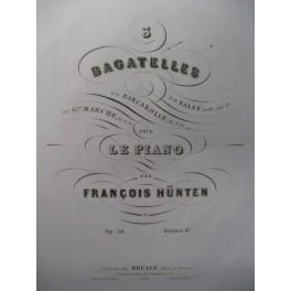 HÜNTEN François Barcarolle Piano ca1845