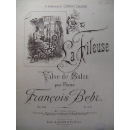 BEHR François La Fileuse Piano XIXe
