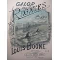 BOONE Louis Galop des Régates Piano 1885