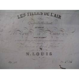 LOUIS N. Les Filles de l'Air Piano Flute Violon 1837