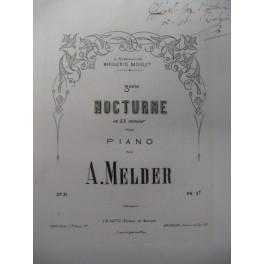 MELDER A. 3e Nocturne Piano XIXe