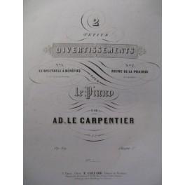 LE CARPENTIER A. Le Spectacle à Bénéfice Piano XIXe