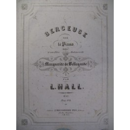 HALL L. Berceuse Piano 1853