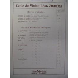 ZIGHÉRA Léon Six études Violon