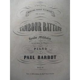 BARBOT Paul Tambour Battant Piano ca1870