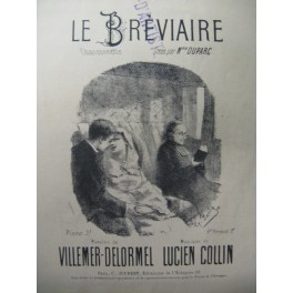 COLLIN Lucien Le Breviaire Chant Piano XIXe