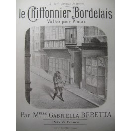BERETTA Gabriella Le Chiffonnier Bordelais Piano XIXe