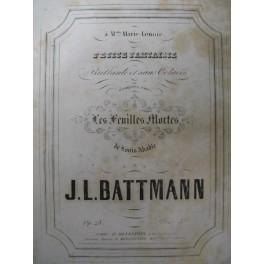 BATTMANN J. L. Les Feuilles Mortes Piano ca1850