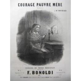 BONOLDI F. Courage Pauvre Mère Chant Piano ca1850