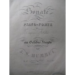 HUMMEL J. N. Sonate op13 Piano ca1830