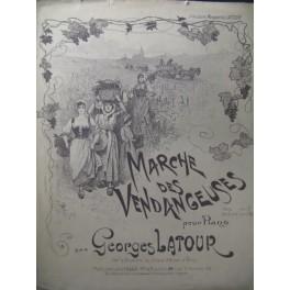 LATOUR Georges Marche des Vendangeuses Piano XIXe