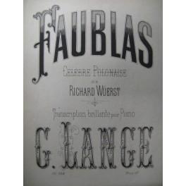 LANGE Gustave Faublas Wüerst Piano 1876