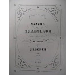 ASCHER J. Mazurk des Traineaux Piano 1880