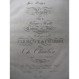 CHAULIEU Ch. Rondo op. 6 Piano ca1820