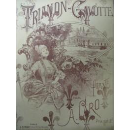 CARO A. Trianon Gavotte Piano XIXe