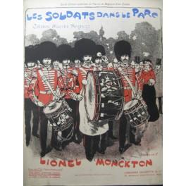 MONCKTON Lionel Les Soldats dans le Parc Piano 1902