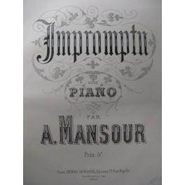 MANSOUR A. Impromptu Piano 1880