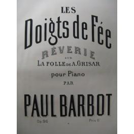 BARBOT Paul Les Doigts de Fée Piano