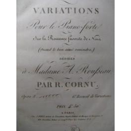 CORNU R. Variations Piano ca1820