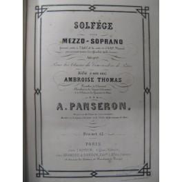 PANSERON A. Solfège pour Mezzo-Soprano Chant Piano ca1860