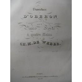 WEBER Obéron Ouverture Piano 4 mains ca1830