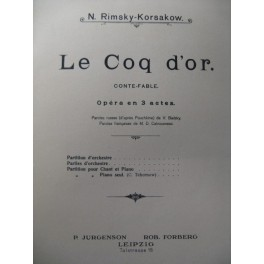 RIMSKY-KORSAKOW Le Coq d'Or Opera 1907