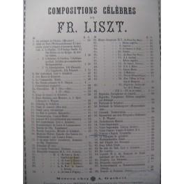 LISZT Franz Tarentella Piano XIXe
