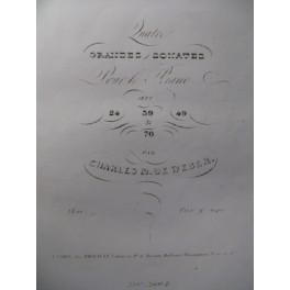 WEBER Sonate n° 3 op. 49 Piano 1838