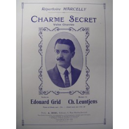 LEUNTJENS Ch. Charme Secret Chant Piano 1912