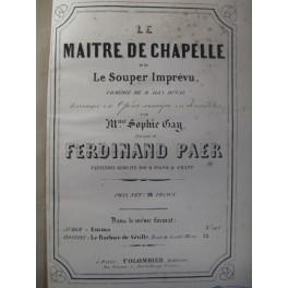 PAER Ferdinand Le Maitre de Chapelle Opera 1842