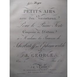 GEORGE J. Petits Airs et Variations Piano ca1820