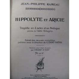 RAMEAU Jean-Philippe Hippolyte et Aricie Chant Piano 1902