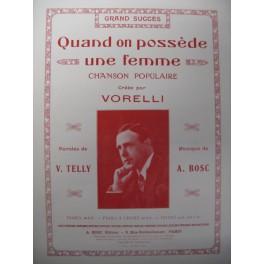 BOSC Auguste Quand on possède un femme Chant Piano 1928