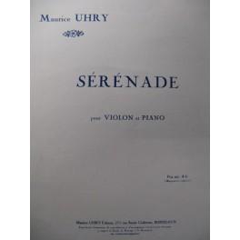 UHRY Maurice Sérénade Violon Piano 1927