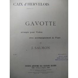 CAIX D'HERVELOIS Gavotte Violon Piano 1918