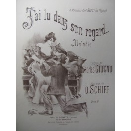 SCHIFF O. J'ai lu dans son regard Chant Piano 1898