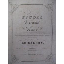 CZERNY Charles Etudes élémentaires Piano 1843