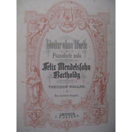 MENDELSSOHN Lieder ohne Worte Piano ca1890