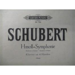 SCHUBERT Franz Symphonie Sim Piano 4 mains