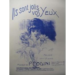 CODINI P. Ils sont jolis vos Yeux Chant Piano 1913