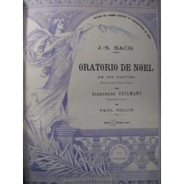 BACH J. S. Oratorio de Noël Chant Piano