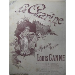 GANNE Louis La Czarine Piano 1891