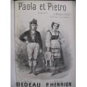 HENRION Paul Paola et Pietro Chant Piano XIXe