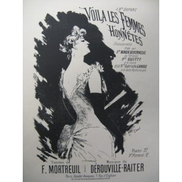 DEROUVILLE RAITER Voilà les Femmes Chant Piano ca1900