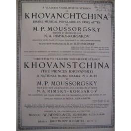 MOUSSORGSKY M. La Khovanchtchina Opera 1913
