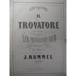 RUMMEL J. Il Trovatore Verdi Piano XIXe